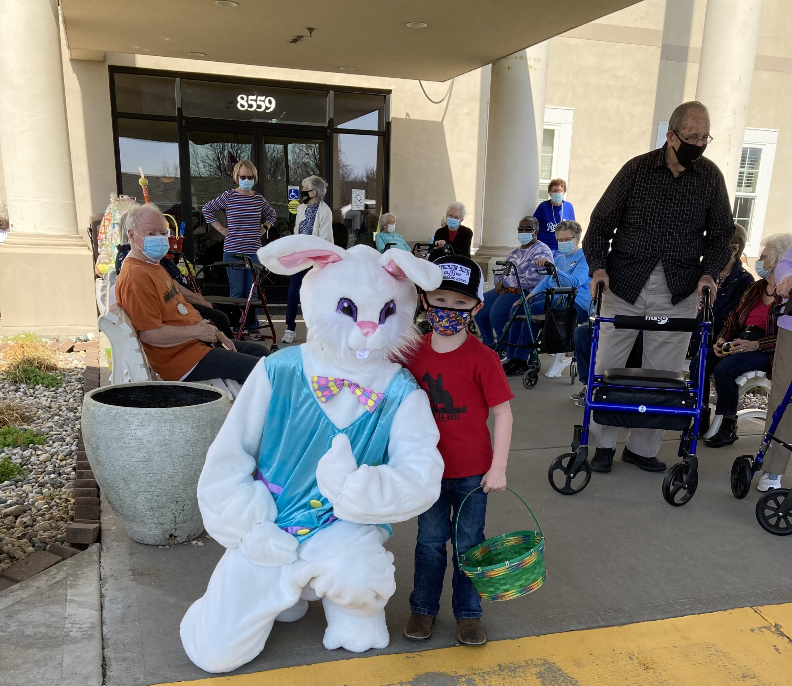 Joseph thought the Easter bunny was really cool!