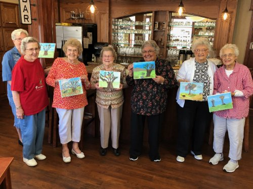 We love painting: especially at our Wine and Canvas Event!
