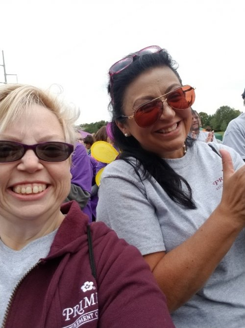 Monica and Jamie hamming it up to end Alzheimer's