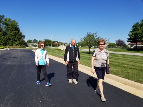 Beautiful day for a walking club.