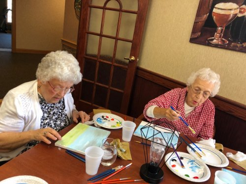 Painting with friends: oh what fun!