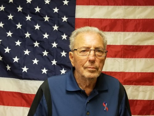 Wayne posing for our Armed Service wall.  Thank you and your family for the sacrifice.