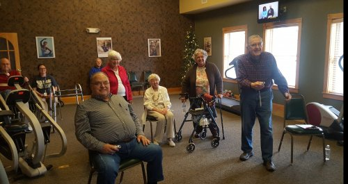 Our Primrose Residents staying young and active with Wii Bowling
