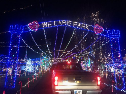 Millions of lights sparkle at the We Care Park in Kokomo. So beautiful to see!