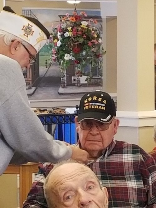Jim being Pinned for his service in the Army