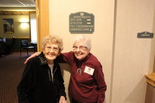One of our ambassadors Betty and our Resident Marion have a great time together.  Great Friends and good times