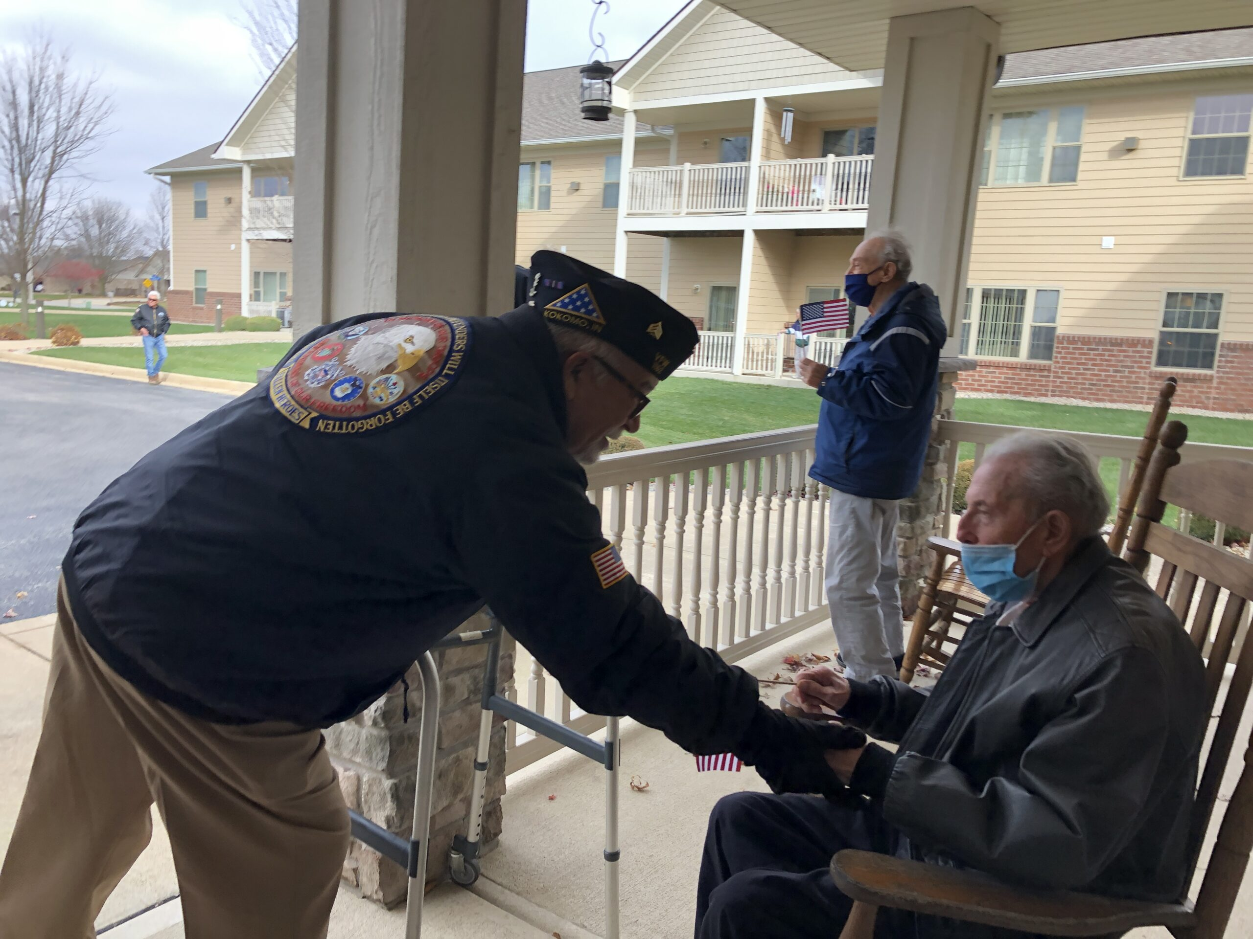 Howard County Veterans honor our Primrose veterans during a Veterans Day drive by parade