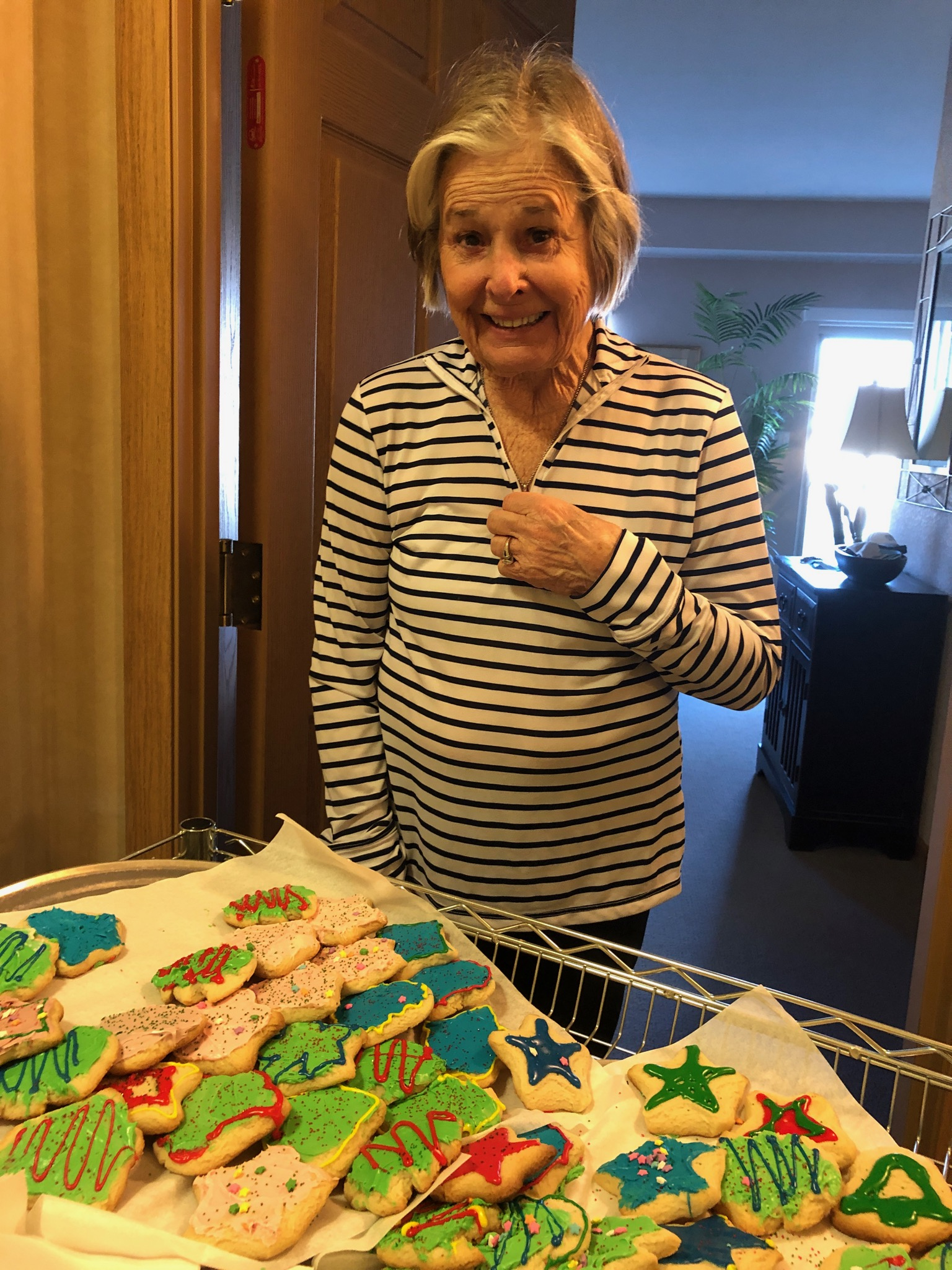 Marilyn was Super surprised to received homemade sugar cookies from our own Chef Bobby on National Cookie Day.