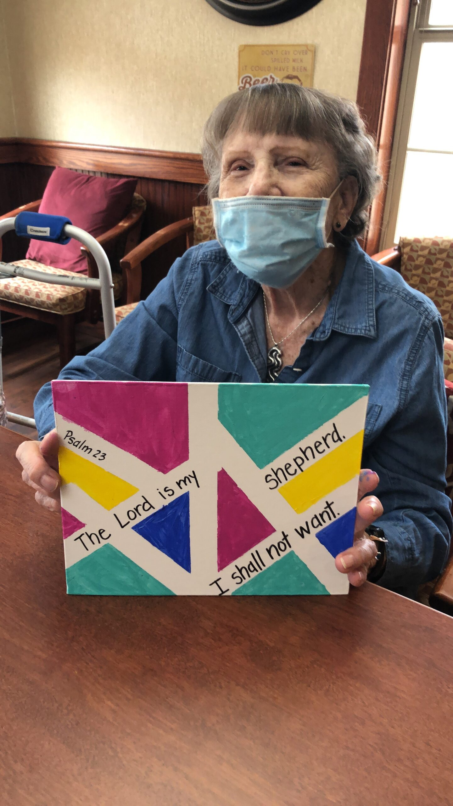 Painting fun today with Pat as she created her masterpiece.