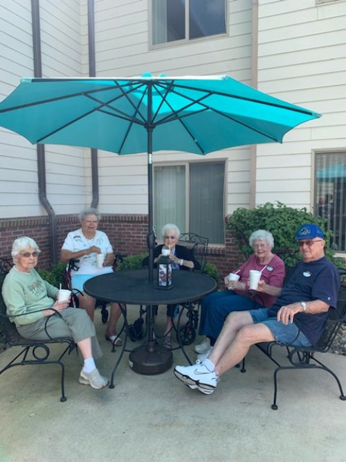 Any afternoon is a good time for a root beer float for this group.