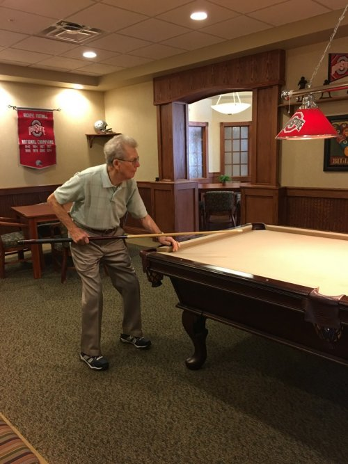 Don is spending some time in the Billiard Room.