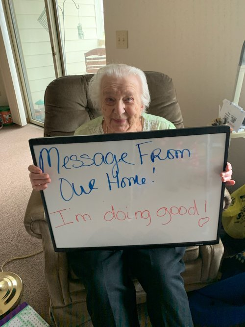 Dorothy is helping us come up with ways to let our Primrose Families know that we are doing good.