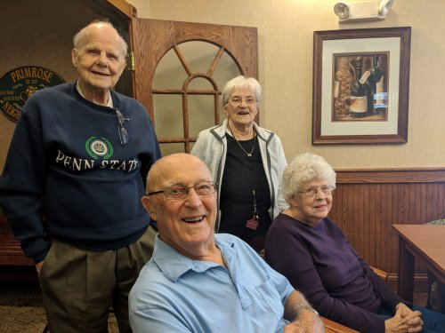 William, Karen, Jerry and Shirley posing for a quick picture after New Resident Reception.