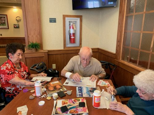 An afternoon of making hope stones is a good way to get together with friends.