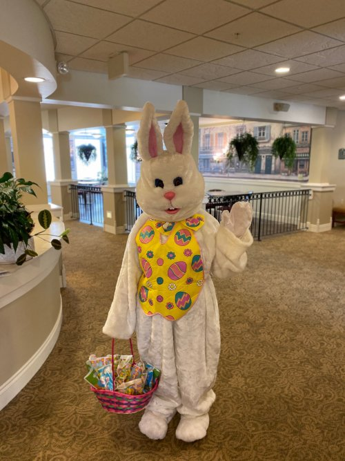 The Easter Bunny stopped by Lancaster today.