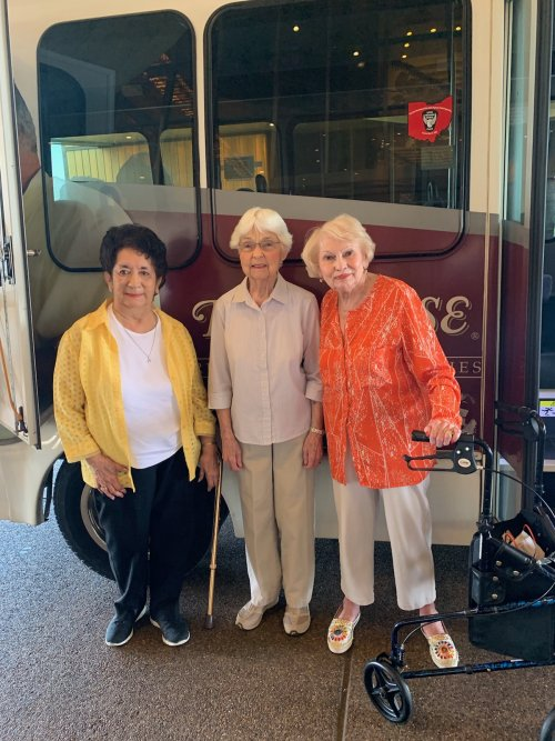 These lovely ladies are looking forward to their day at the casino.
