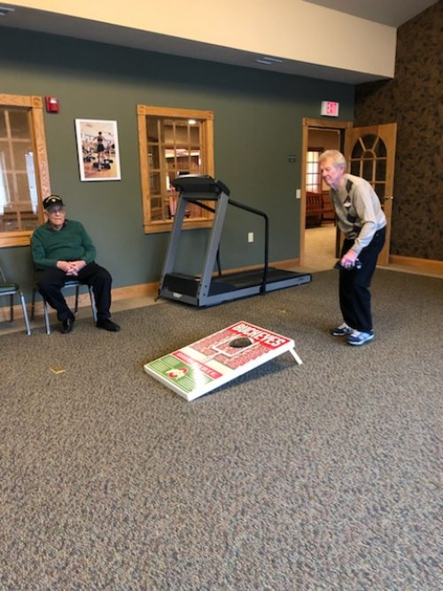 Nothing like a friendly game of Indoor Cornhole on a cold afternoon.