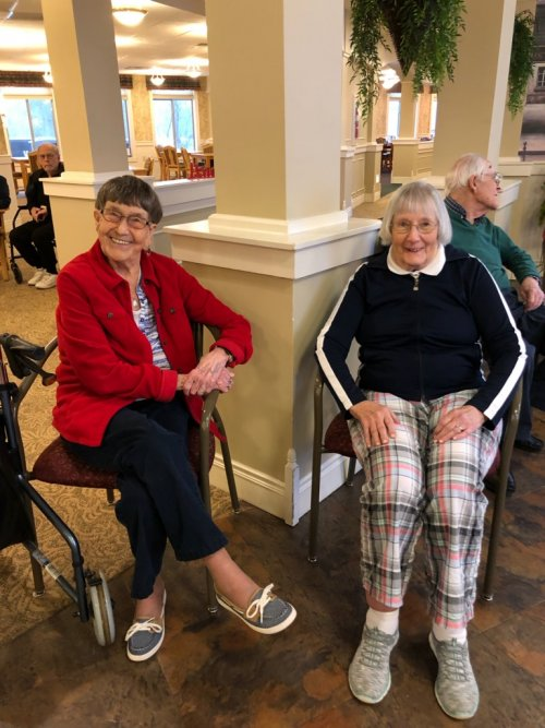 Norma & Ann are enjoying an afternoon of entertainment.