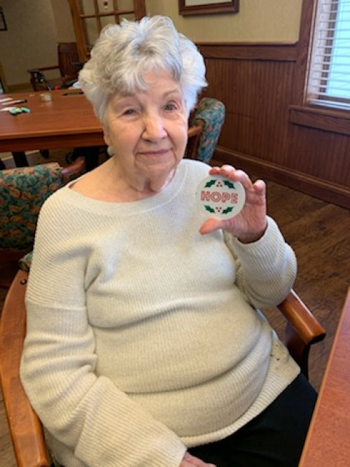 Terri got in the on the action of making magnets too.