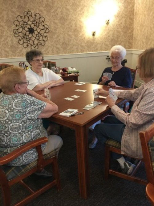 A friendly evening card game in Lancaster.