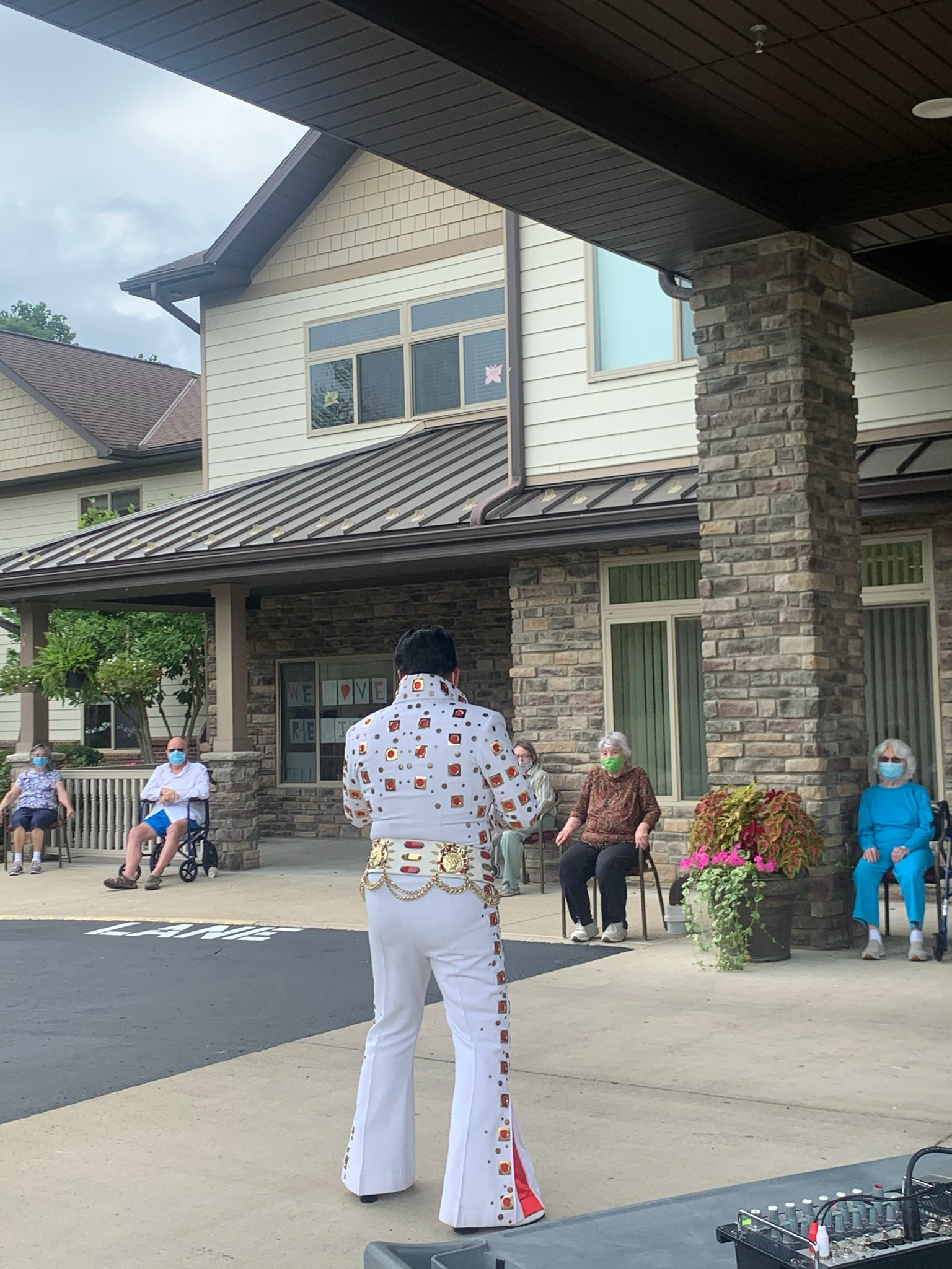 The residents are enjoying songs from the past.