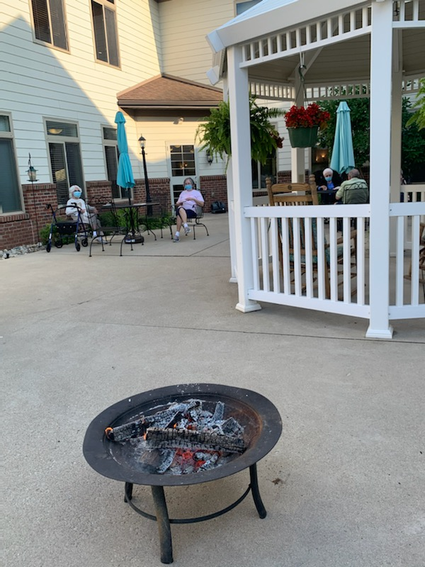S'mores and friends on the patio, it don't get any better than that.