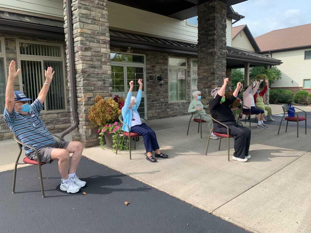 A morning exercise class with friends is a great way to set the day.