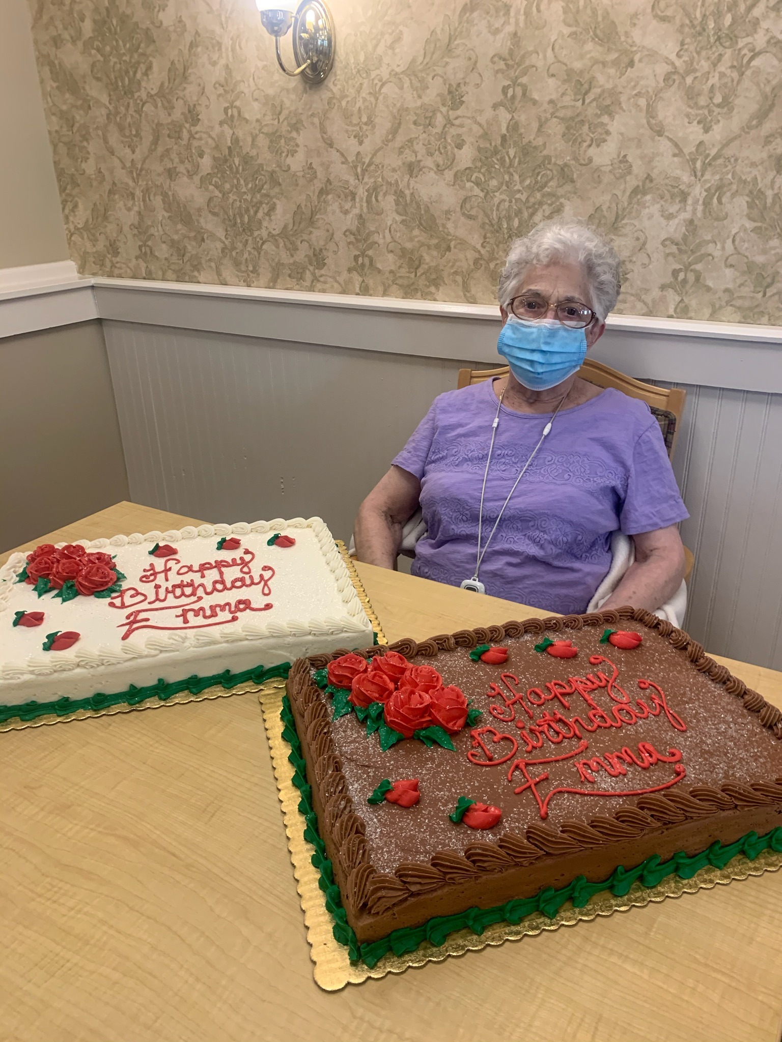 Who says that you can't have 2 cakes on your 93rd birthday? Happy Birthday Emma!