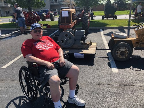 Bob S. had an enjoyable day checking out the different tractors, visiting, and eating homemade ice cream.