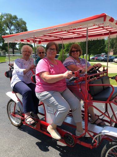 These ladies are enjoying a bike ride on the Longest Day Of Summer!