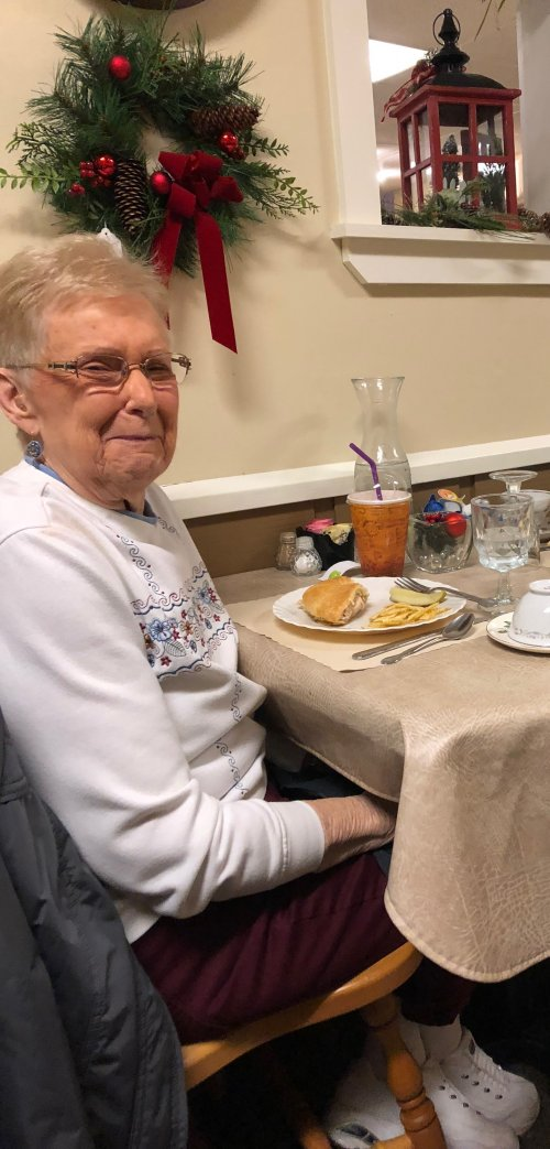 Becky enjoyed a trip to eat lunch out at Touches in Glandorf, Ohio.