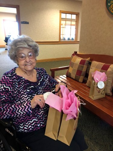 Rhea a retired nurse helped make a special gift for the Nurses at Primrose of Lima for National Nurses Week.