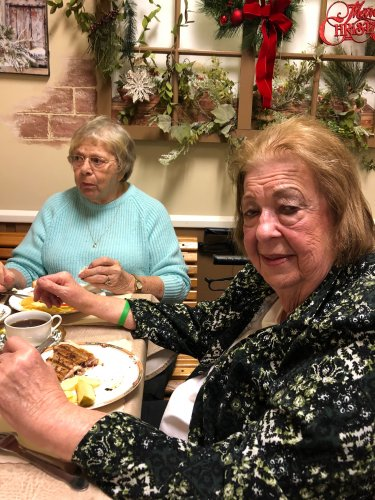 Betty & Tiz enjoy lunch out at Touches in Glandorf, Ohio
