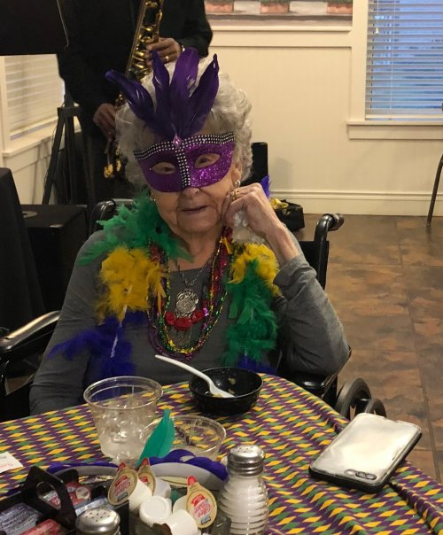 Rhea was ready to celebrate FAT TUESDAY!