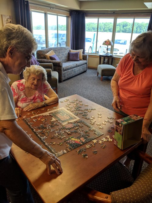 Alberta, Wilma and Betty are trying to find that right piece to the puzzle.