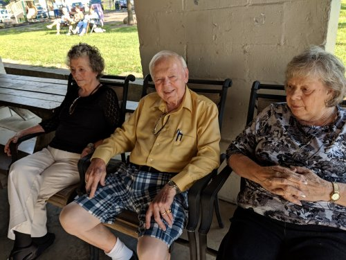 Eileen, Jim, and Betty are enjoying the music at the Lincoln Park Dance.
