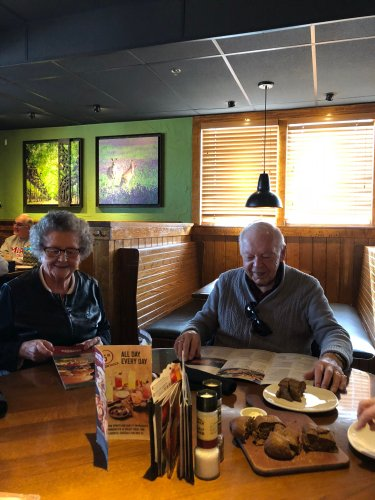 Jim and Eileen enjoyed lunch out in Findlay at The Outback Steak House.