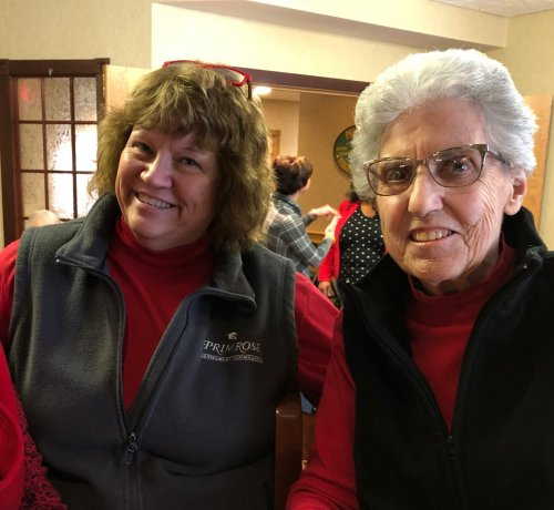 LEC Larrain and Alberta wore RED for Women's Heart Month.