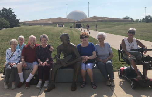 This group is going to enjoy a tour of the Neil Armstrong Museum on the 50th Anniversary Week.