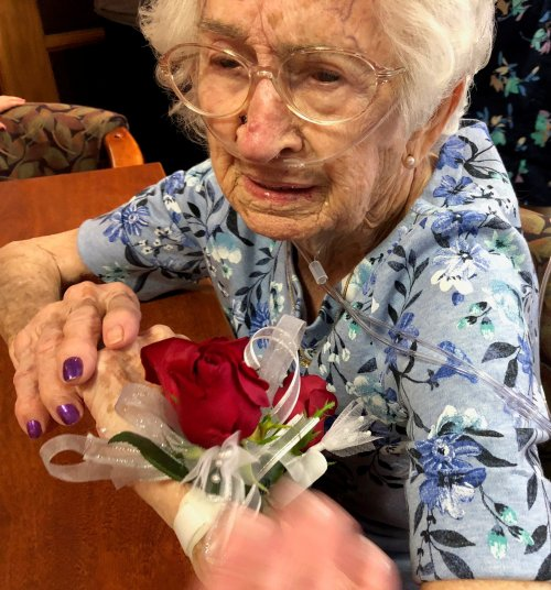 This lovely lady named Jay turned 105 years young on April 27. She was full of tears with happiness over her birthday party.