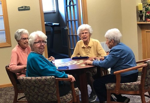 These ladies are at it again! They love to play Rummicube.