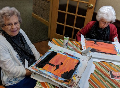 Betty And Audrey painting a beautiful picture!