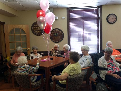 These ladies are enjoying Jay's birthday party. There was a lot of visiting and laughter.