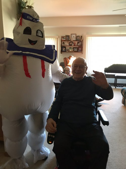 Gerald and his friend Marshmallow Man.