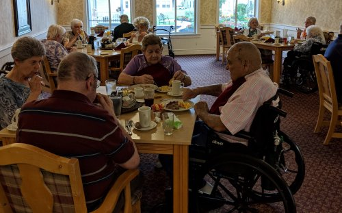 Residents started their Longest Day on June 21st out by enjoying a breakfast buffet.