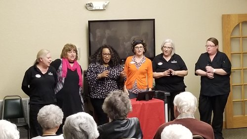 At the end, some of the staff sang Thank You For Being a Friend from the Golden Girls.