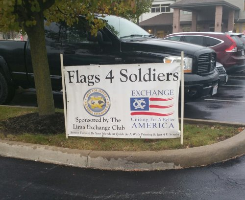 Flags for Soldiers Patriotic Tribute at Primrose of Lima