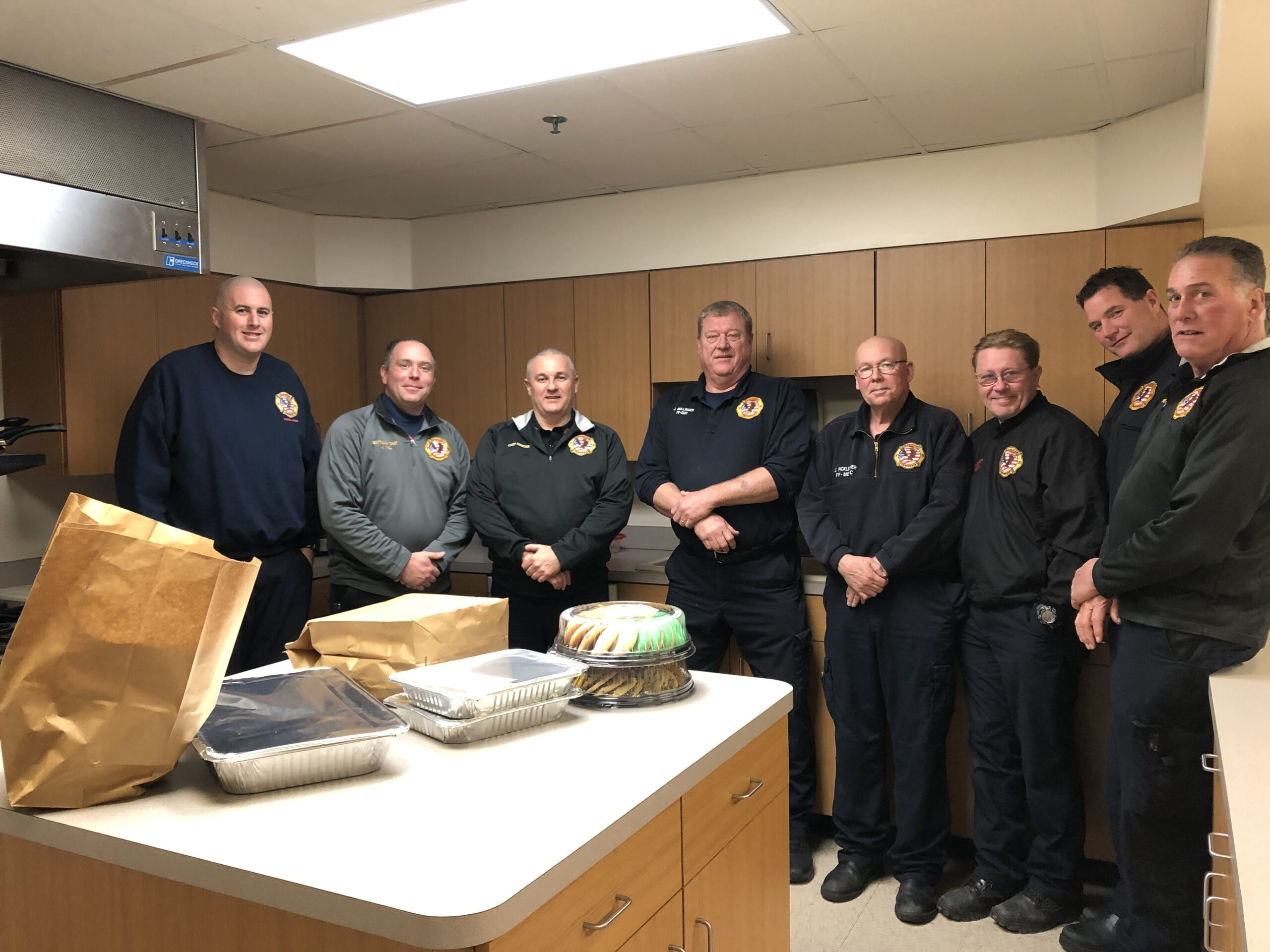 The American Township Firemen and EMT's enjoyed a delicious lunch for Random Acts Of Kindness Day! They are so appreciated for all they do for us!!