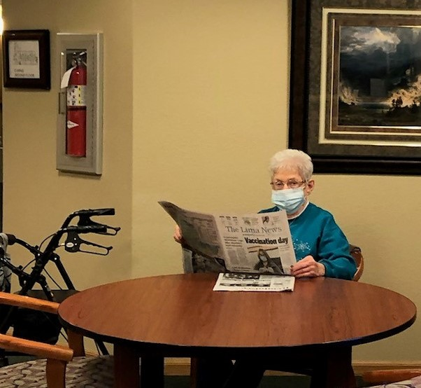 Marilyn is keeping up with what is in the Lima News.