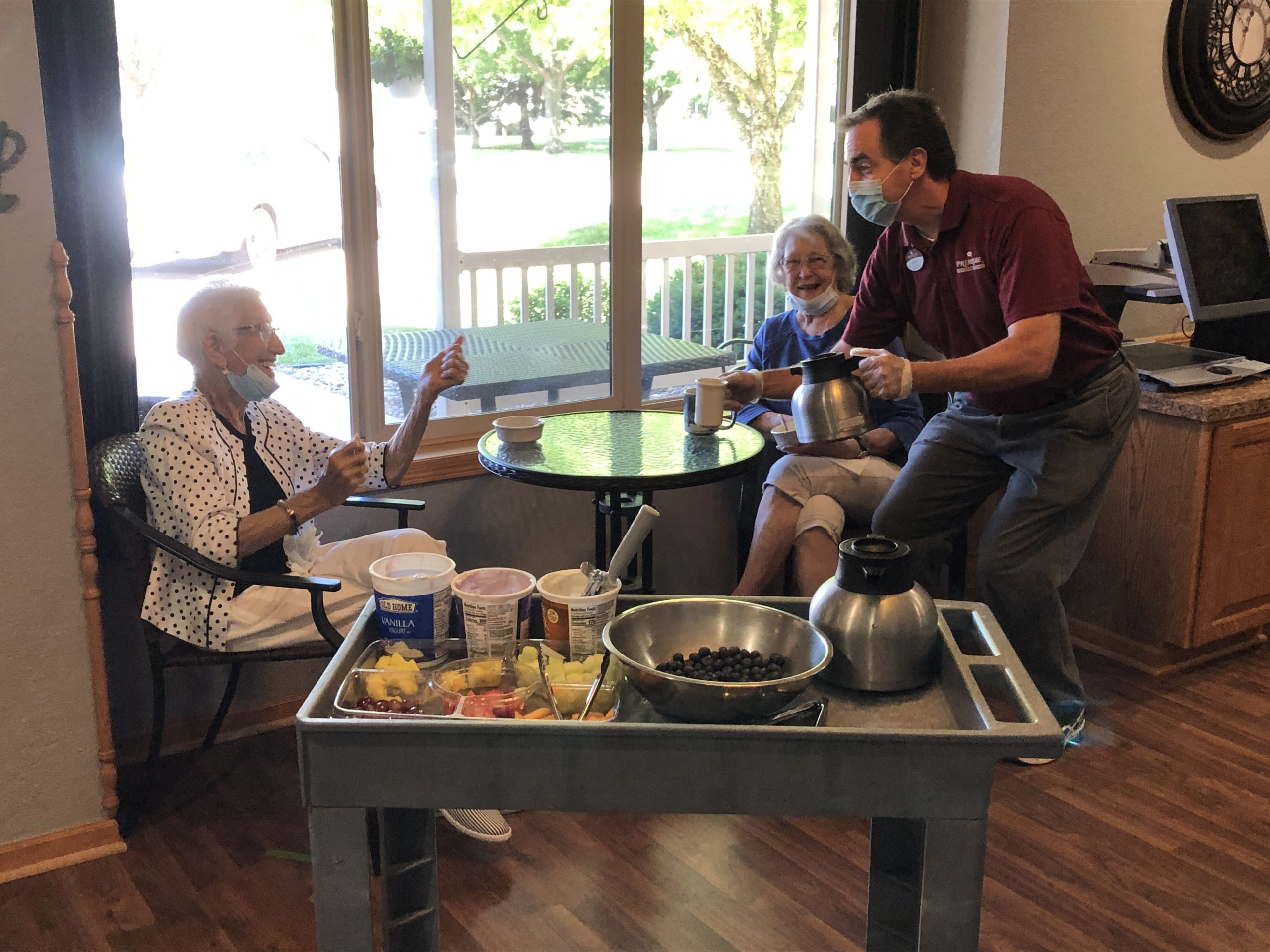 Steve is always serving residents, no matter where they can be found in the community!